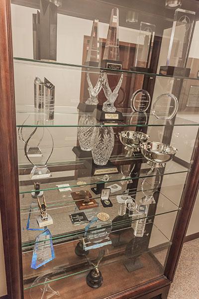 Heritage Awards Display Case